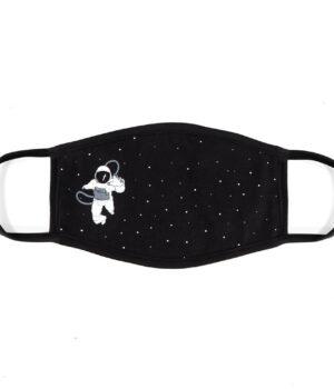Astronot Uzay %100 Pamuklu Yıkanabilir Maske