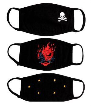 3 lü Paket %100 Pamuklu Yıkanabilir Maske