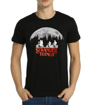 Stranger Things Siyah Erkek Tişört