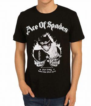 One Piece Portgas D. Ace Luffy Siyah Erkek Tişört