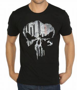 The Punisher Siyah Erkek Tişört