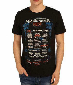 Lord Of The Rings Orta Dünya Siyah Tişört