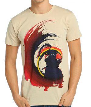 Rurouni Kenshin Krem Erkek Tişört