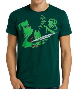 Samurai Champloo Mugen Yeşil Erkek Tişört
