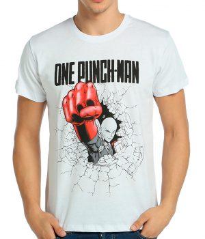One Punch Man Saitama Beyaz Erkek Tişört