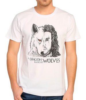 Game Of Thrones Jon Snow Beyaz Erkek Tişört