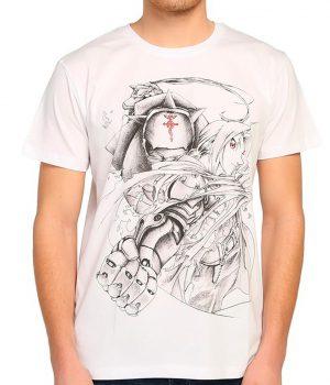 Fullmetal Alchemist Beyaz Erkek Tişört