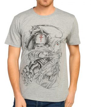 Fullmetal Alchemist Gri Erkek Tişört