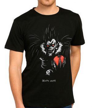 Death Note Elma Sever Ryuk Siyah Tişört