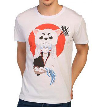Gintama Beyaz Erkek Tişört