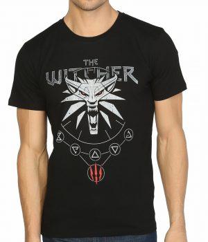 Witcher 3 Wild Hunt Siyah Erkek Tişört