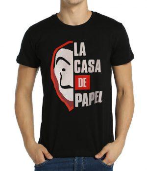 La Casa De Papel Siyah Erkek Tişört