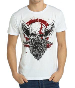 God of War Kratos Beyaz Erkek Tişört