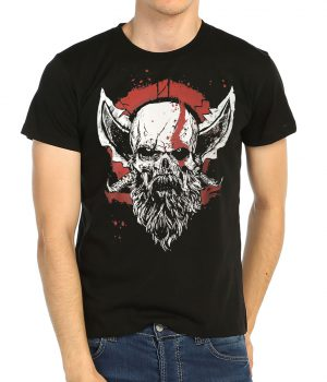 God of War Kratos Siyah Erkek Tişört