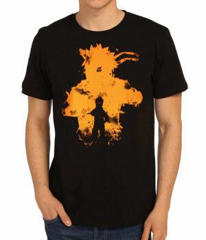 Naruto Kyuubi Kurama Siyah Erkek Tişört