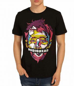 Radiohead Thom Yorke Siyah Erkek Tişört