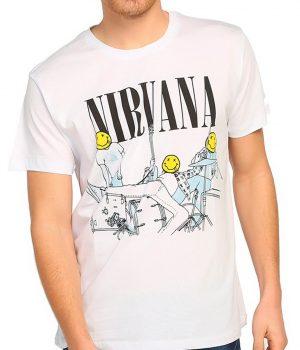 Nirvana Bleach Beyaz Erkek Tişört