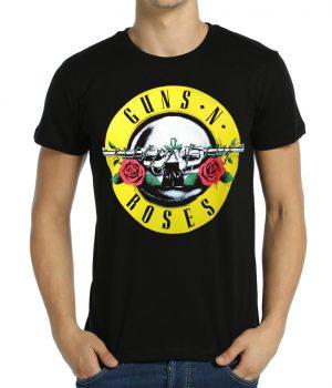 Guns N' Roses Logo Siyah Erkek Tişört