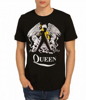 Queen Freddie Mercury Siyah Erkek Tişört