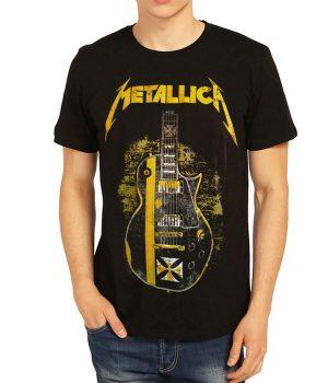 Metallica Gitar Siyah Erkek Tişört