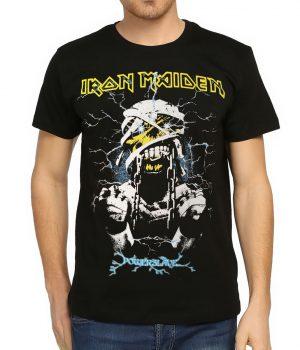 Iron Maiden Powerslave Siyah Erkek Tişört