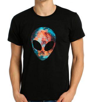 Alien Cosmos Siyah Erkek Tişört