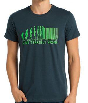 Evolution Of Barcode Füme Erkek Tişört