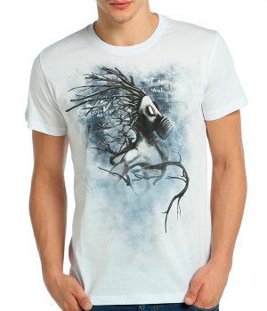 Root n' Smoke Beyaz Erkek Tişört