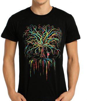 Wish Tree Siyah Erkek Tişört