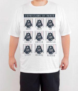 Star Wars Darth Vader 4XL Büyük Beden Beyaz Erkek Tişört