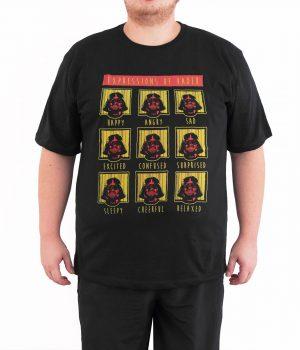 Star Wars Darth Vader 4XL Büyük Beden Siyah Erkek Tişört