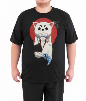 Gintama 4XL Büyük Beden Siyah Erkek Tişört