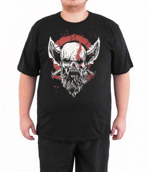 God of War Kratos 4XL Büyük Beden Siyah Erkek Tişört