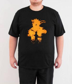 Naruto Kyuubi Kurama Büyük Beden Siyah Erkek Tişört
