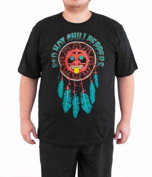 Red Hot Chili Peppers Düşkapanı 4XL Büyük Beden Siyah Erkek Tişört
