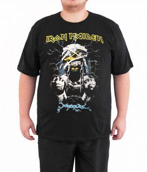 Iron Maiden Powerslave 4XL Büyük Beden Siyah Erkek Tişört