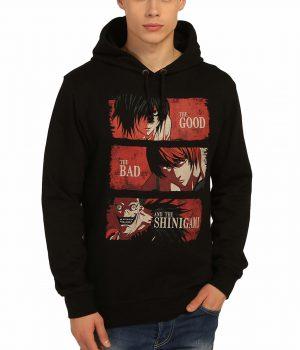 Death Note Kira L Shinigami Siyah Kapşonlu Sweatshirt