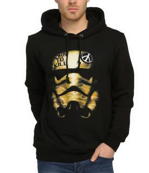 Star Wars Full Metal Trooper Siyah Kapşonlu Sweatshirt