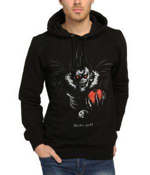 Death Note Elma Sever Ryuk Siyah Kapşonlu Sweatshirt