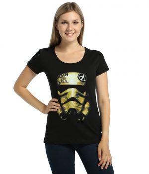 Star Wars Trooper Siyah Kadın Tişört