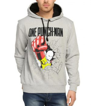One Punch Man Saitama Gri Erkek Sweatshirt
