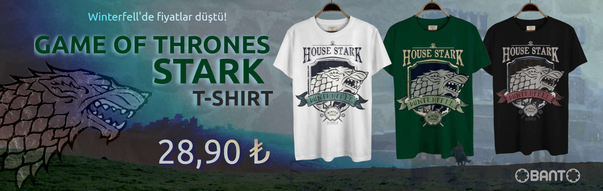 Game of Thrones House of Starks Tshirt